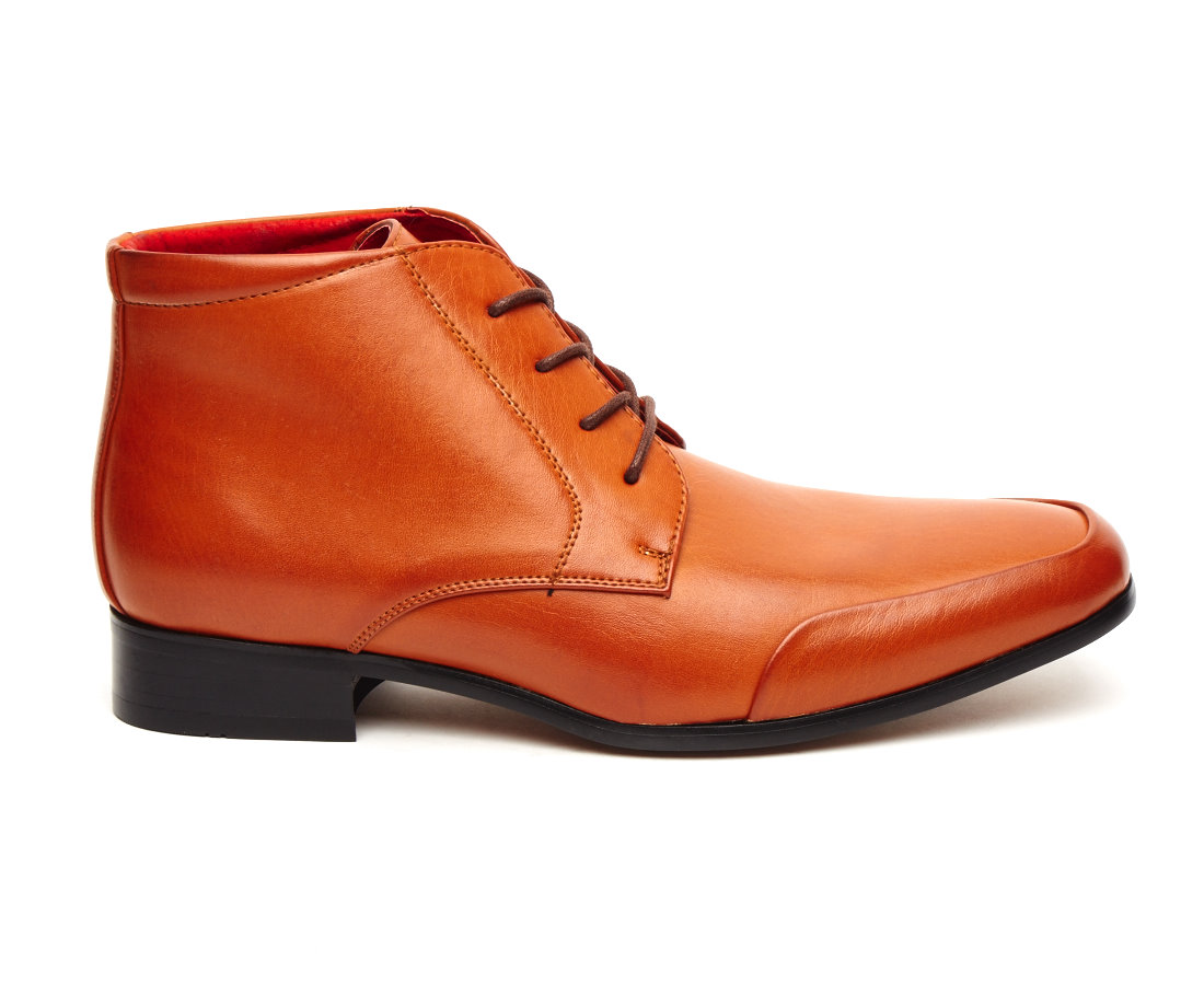rossellini AIDO BROWN MENS ITALIAN LEATHER ANKLE BOOTS