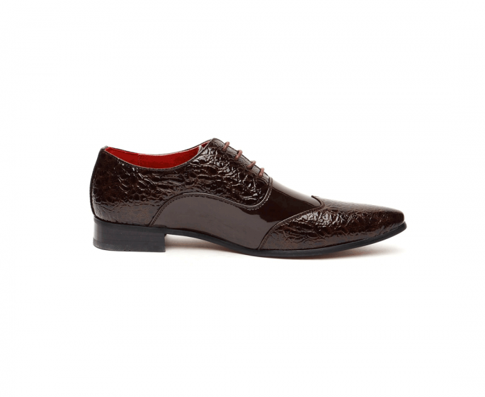 ITALIAN LACE UP POINTED BROGUES brown