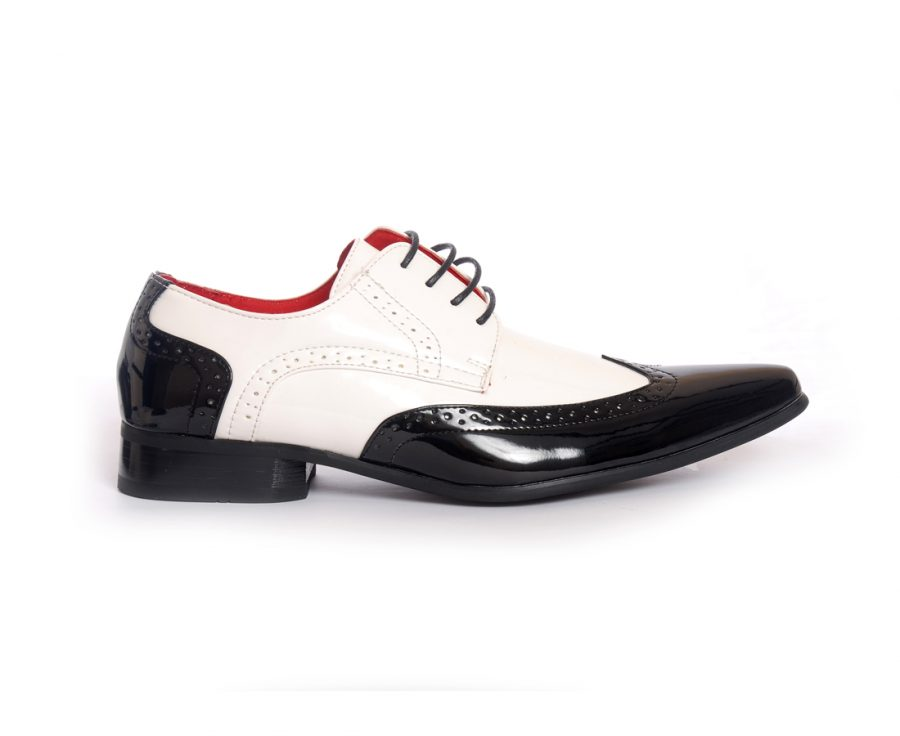 MENS POINTED BROGUES LACE red up