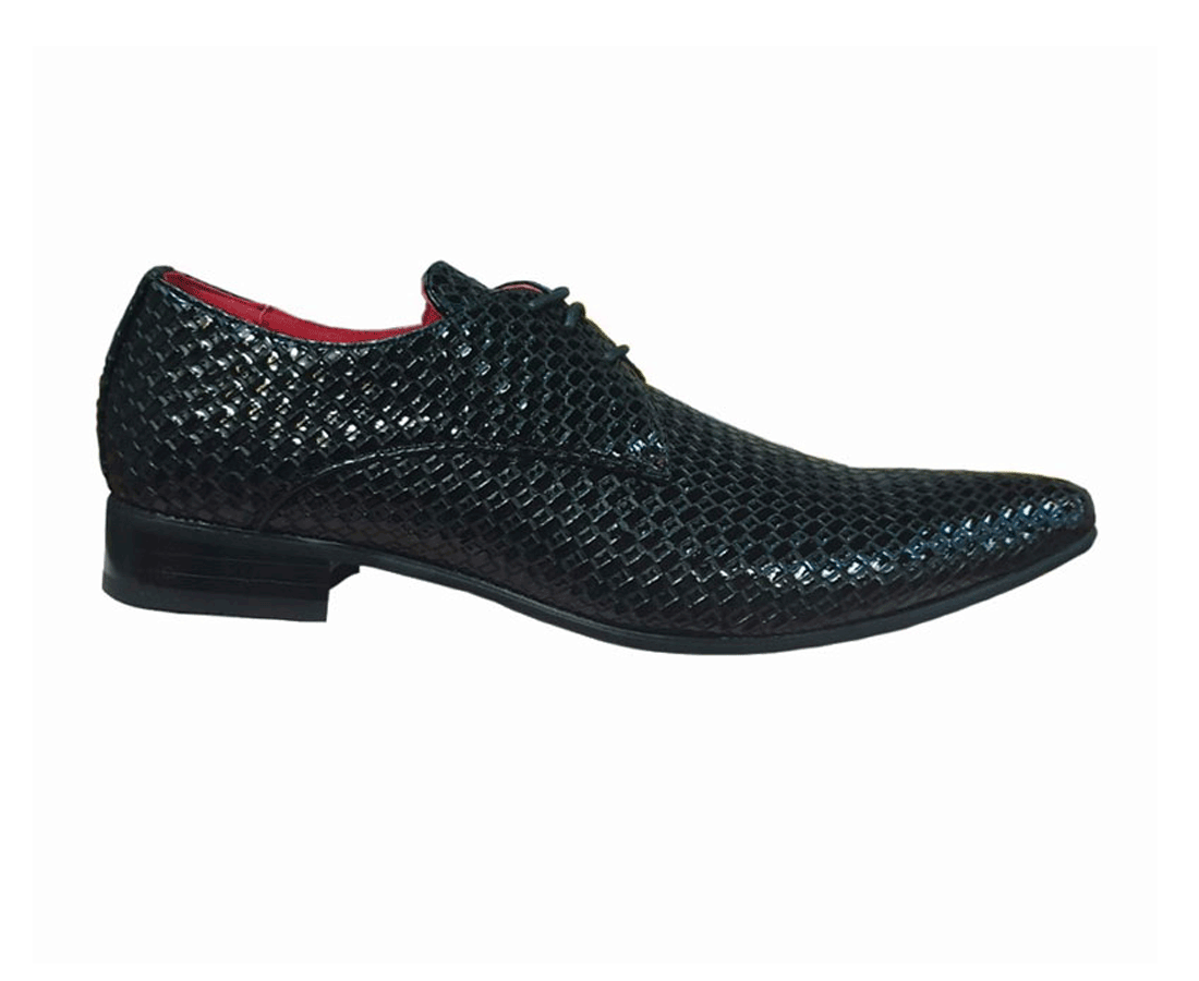 POINTED WOVEN LACE UP