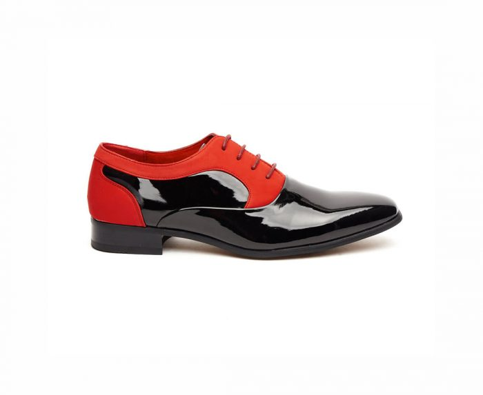 MENS PATENT SUEDE LACE-UP WEDDING SHOES ROSSELLINI ROBERTO
