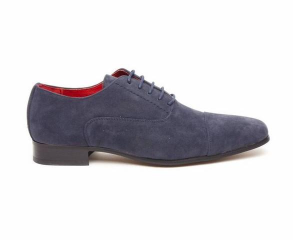 MENS FAUX SUEDE LACE-UP CASUAL SHOES navy