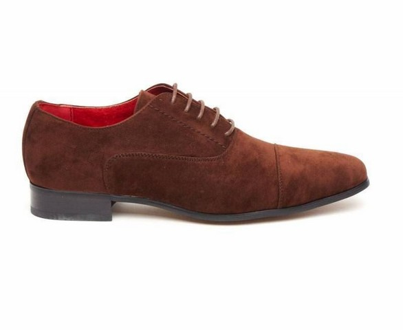 MENS FAUX SUEDE LACE-UP CASUAL SHOES ROSSELLINI MARIO