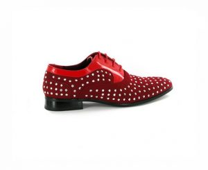 MENS STUDDED LACE-UP POINTED toe wedding shoes rossellini lazio